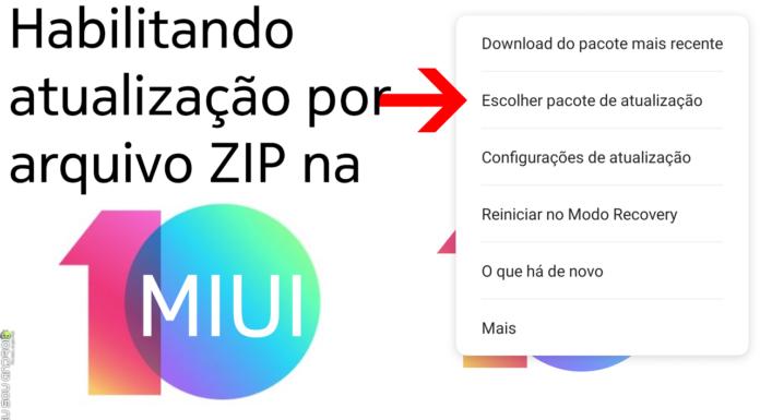 Ativando atualização por arquivo ZIP na MIUI 10 capa