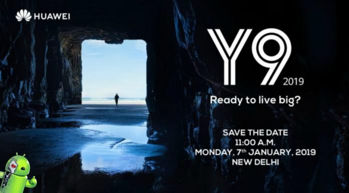 Huawei Y9 2019 será lançado em 7 de janeiro