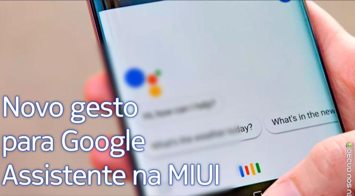 Atualização da MIUI trará novo gesto para ativar Google Assistente capa
