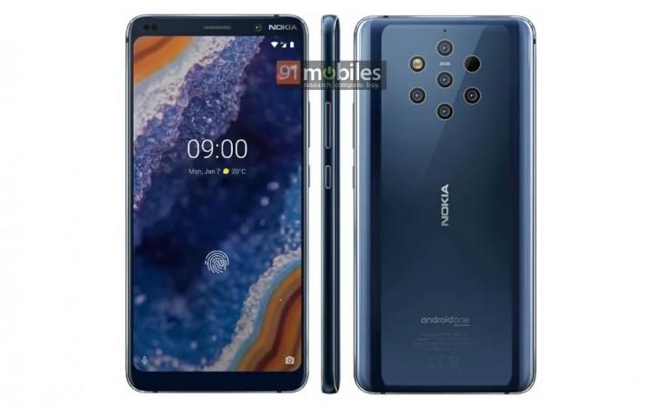 Design do Nokia 9 Pureview Vaza em Renderização 1