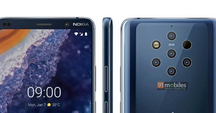 Design do Nokia 9 Pureview Vaza em Renderização 2