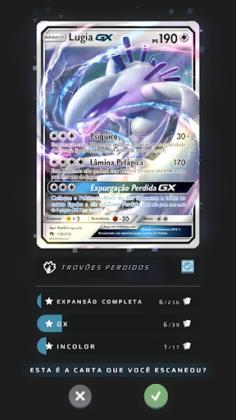 Dex de Cartas do Pokémon