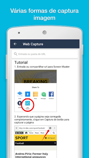 ScreenMaster captura de imagem & marcação
