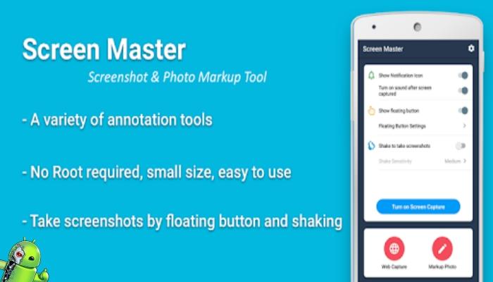 ScreenMaster: captura de imagem & marcação