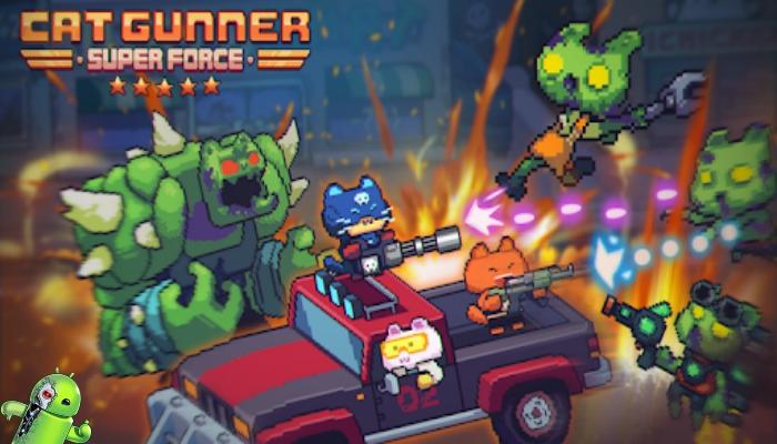 Cat Gunner: Super Força (Pixel Zombie Shooter)