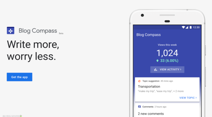 Google desativa o aplicativo Blog Compass