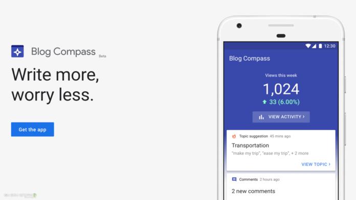 Google desativa o aplicativo Blog Compass