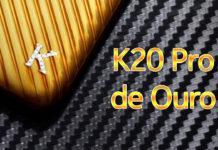 Xiaomi Lança K20 Pro de Ouro com Detalhes de Diamantes capa