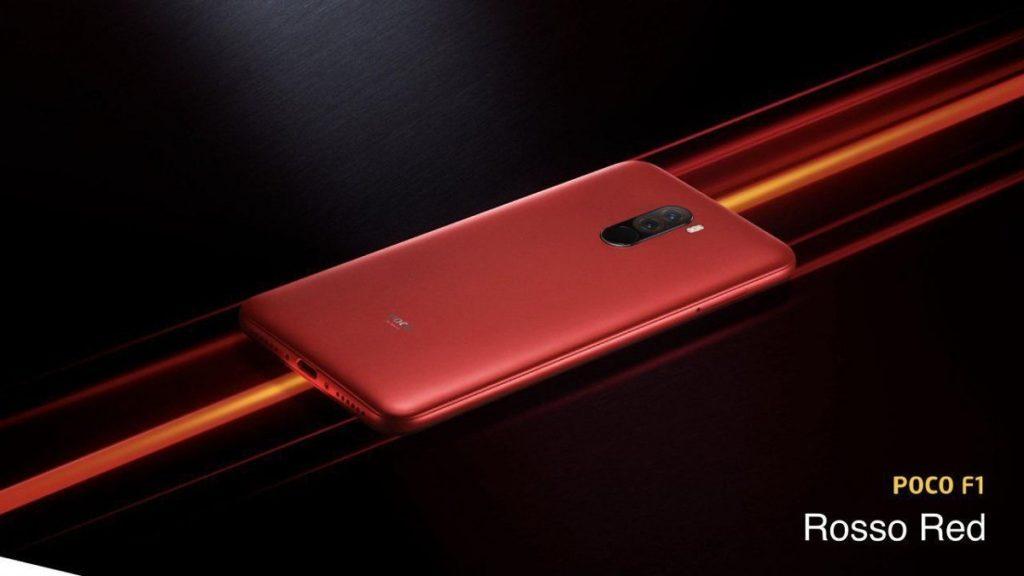 Coisas Que Você Precisa Saber Antes de Comprar um Xiaomi - imagem de um pocophone vermelho com a tela para baixo.