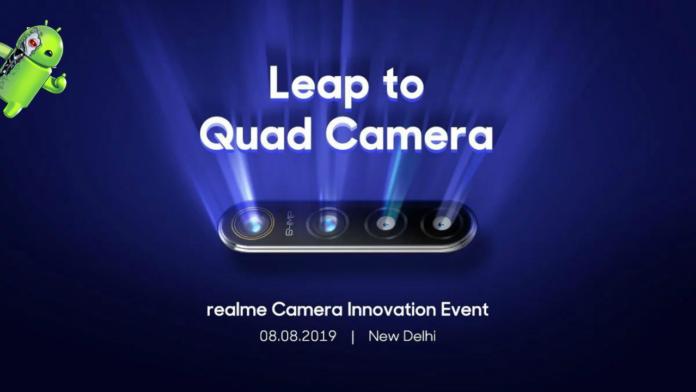 Realme 5 chegando em 20 de agosto com câmera de 48 MP