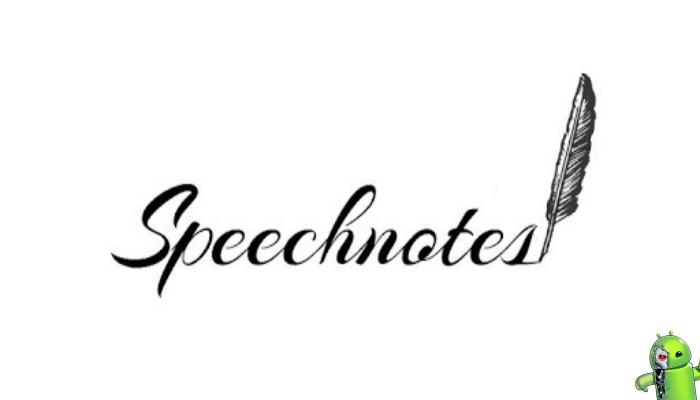 Speechnotes - Fala para Voz