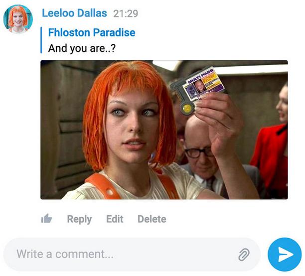 Telegram é Atualizado com Mensagens Silenciosas, Modo Lento e Muito Mais! - Imagem mostrando comentários feitos em um site utilizando uma conta do telegram. O layout é muito parecido com o aplicativo, mas está num site.