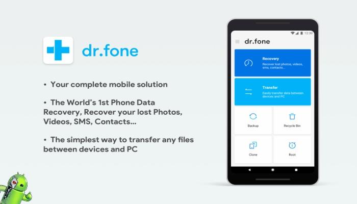 Dr.fone - Recuperação e transferência e backup