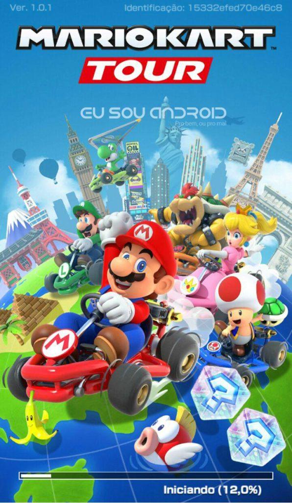 criando conta no Mario Kart Tour