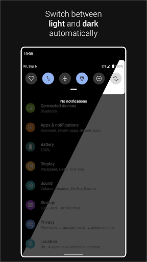 Automatic Dark Theme for Android 10