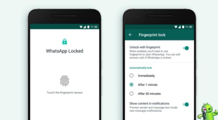 WhatsApp ganha nova atualização que permite o desbloqueio por meio da impressão digital