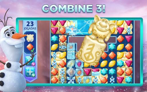 Aventuras de Frozen: Novo Jogo de Combinar 3