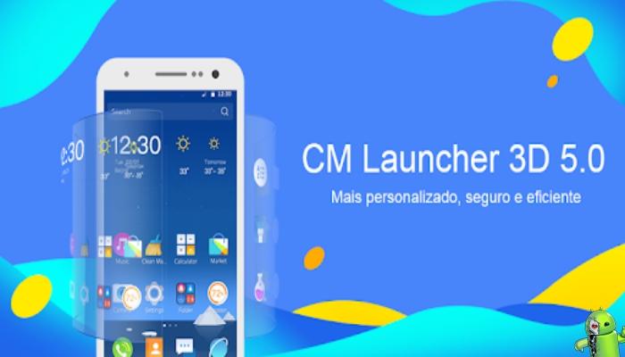 CM Launcher 3D - Personalizado, seguro