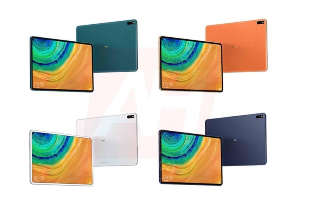 Huawei MatePad Pro aparece em 4 cores diferentes