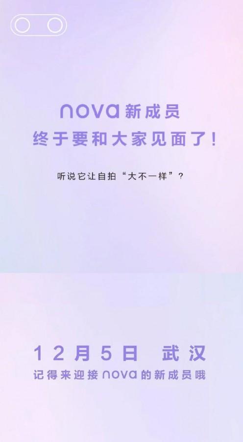 Huawei Nova 6 5G será lançado no dia 5 de dezembro