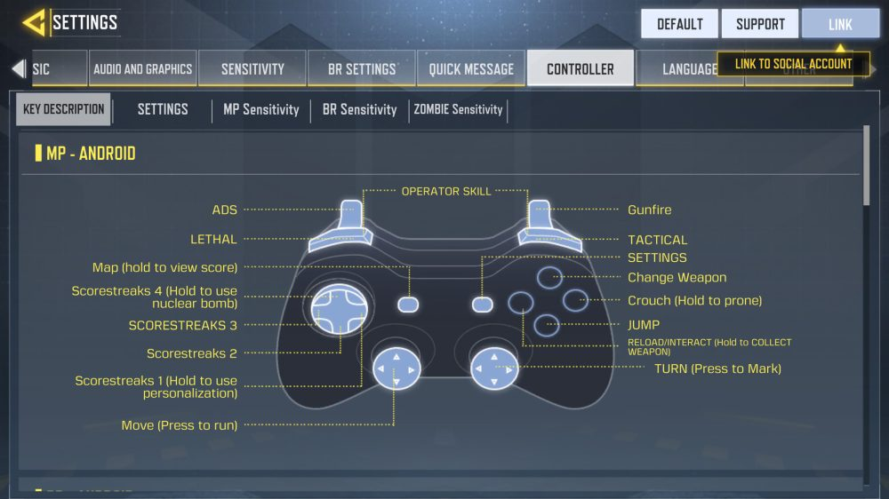 O suporte a controles acaba de volta ao Call of Duty Mobile