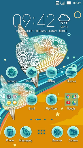 Ocean Dream ASUS ZenUI Theme