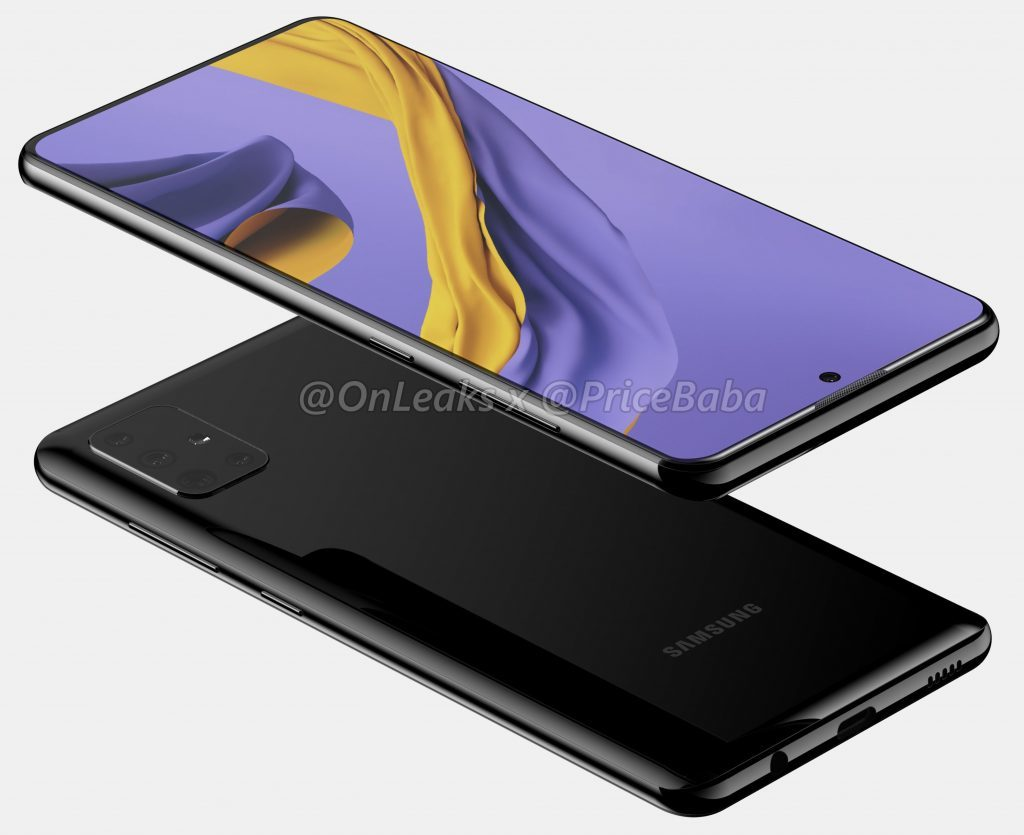 Samsung Galaxy A51 aparece em render com especificações