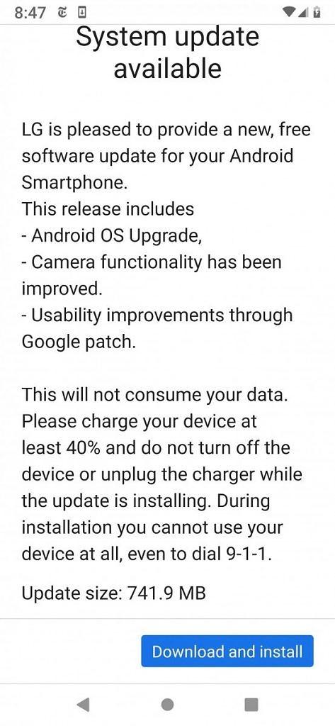 LG G7 One está finalmente sendo atualizado para o Android 10