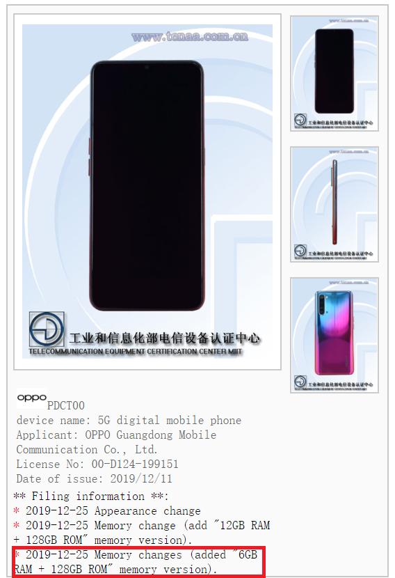 O Oppo Reno 3 terá uma versão de 6GB de RAM que deve chegar em breve