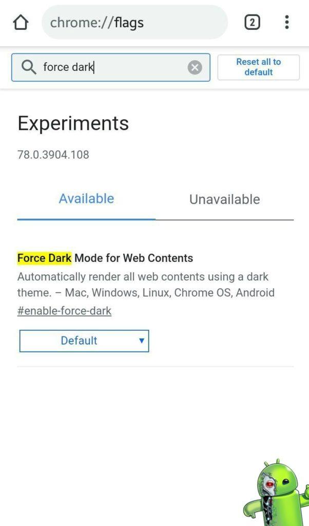 Tutorial ensinando como ativar o modo escuro no Google Chrome para Android