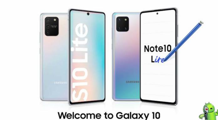 Samsung Galaxy S10 Lite e Galaxy Note 10 Lite São Lançados com bateria de 4.500mAh
