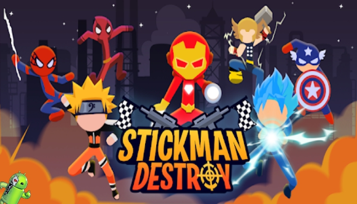 Stickman Destroy - Super Warriors Destruction