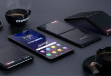 Telefone dobrável: Cartaz promocional do Galaxy Z é Visto