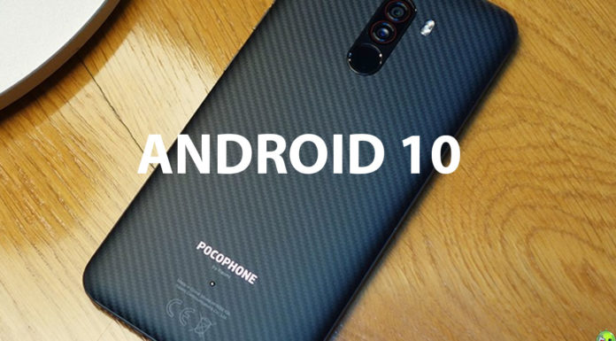 pocophone f1 android 10 CAPA