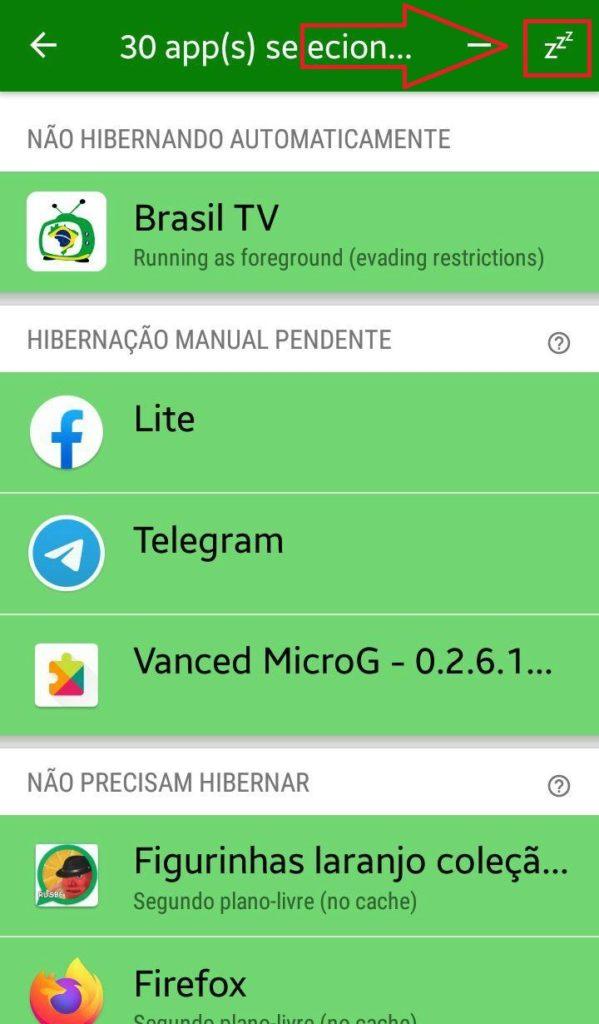 Usando o Greenify 2020 para hibernar aplicativos no Android