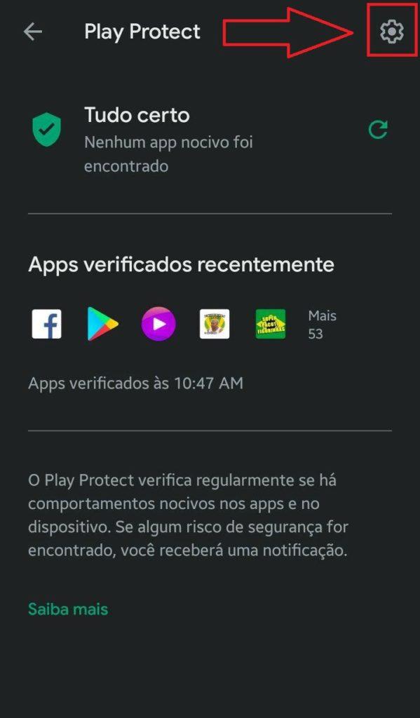 Desativando o Play Protect voce poderá instalar qualquer aplicativo fora da Google Play