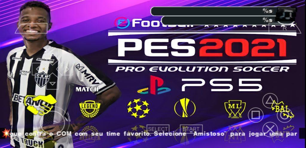 PES 2021 com brasileirão para Android