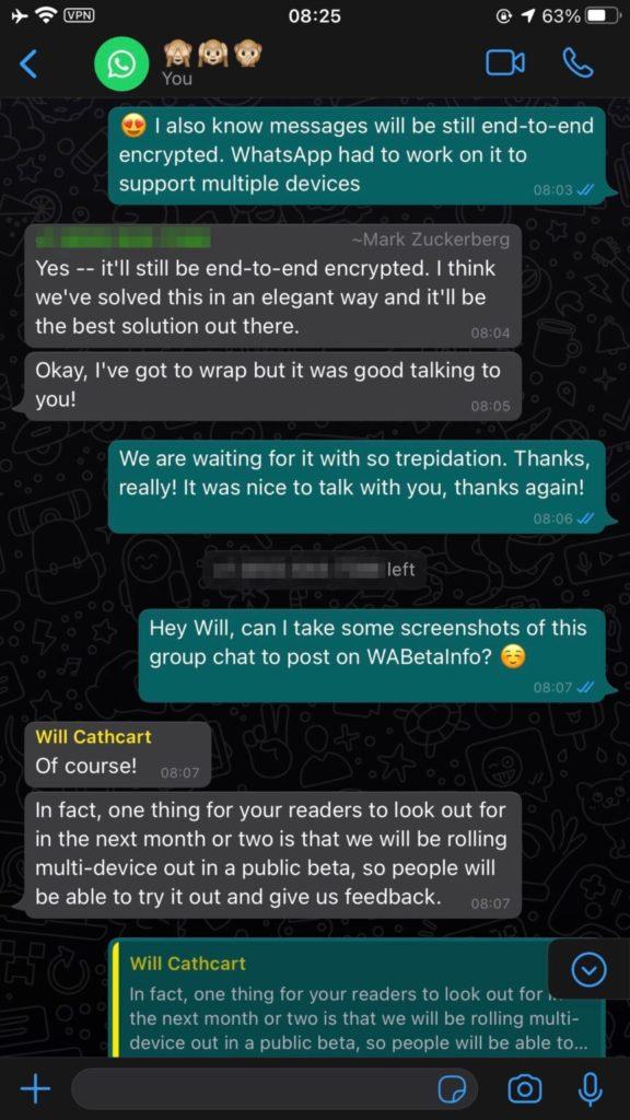 Novos recursos do WhatsApp confirmados pelo Zuckerberg