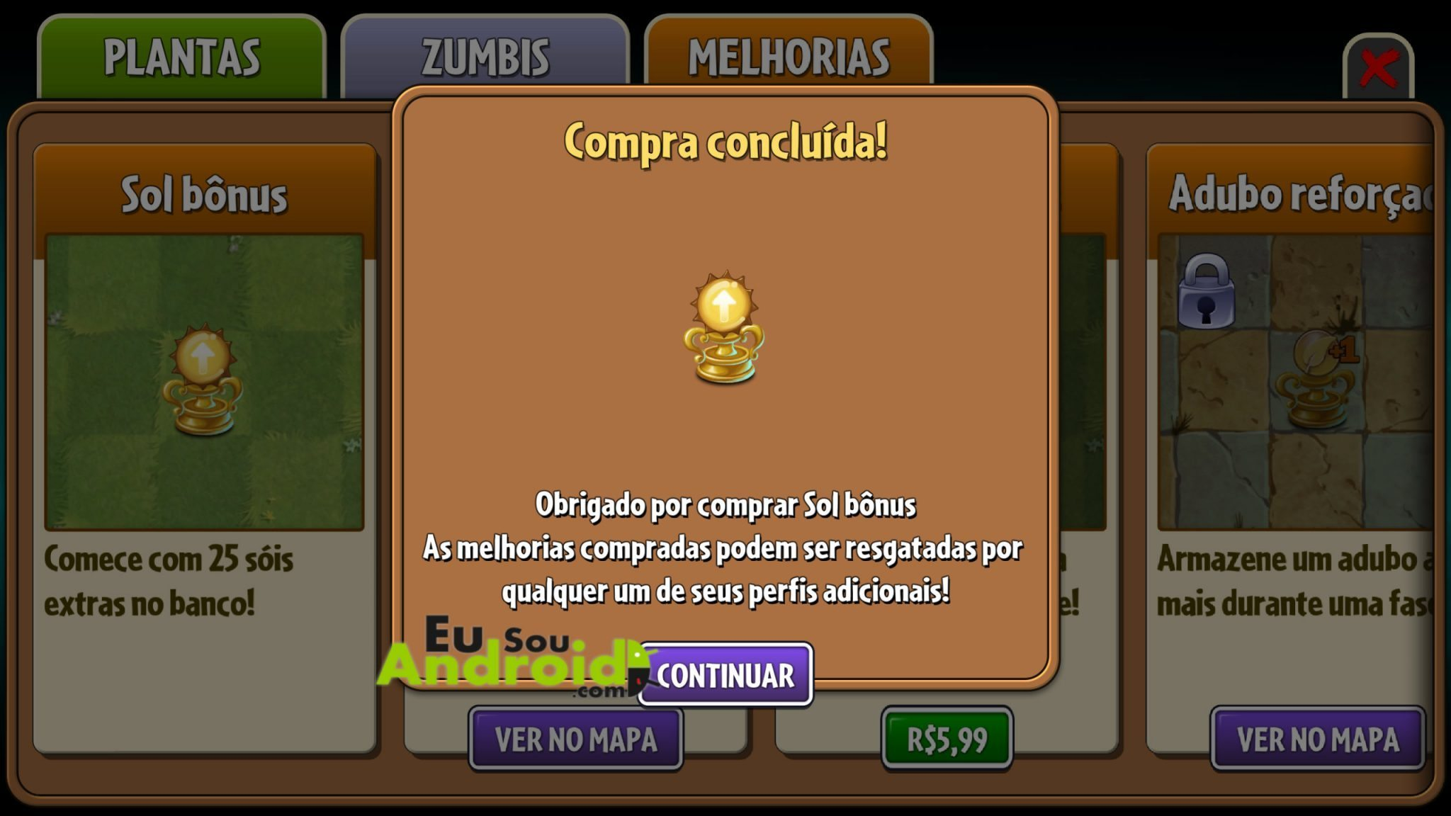 Download - Plants vs. Zombies 2 MEGA MOD Dinheiro, Gemas e Chaves infinitos 3