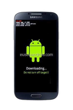 Galaxy S4 modo download feito
