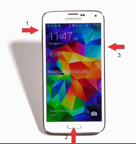 Galaxy S5 Modo Recovery