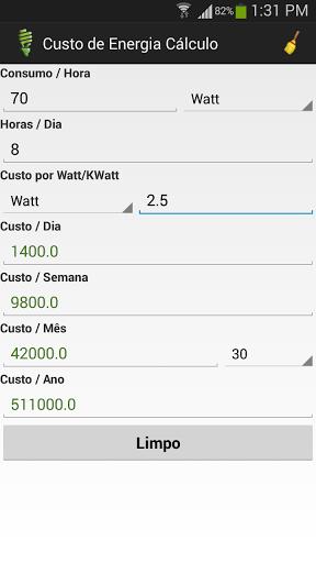 Minha calculadora eletrica 3