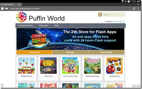 Puffin Web Browser android imagem 2