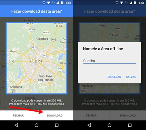 Salvar Mapas no Google Maps 2